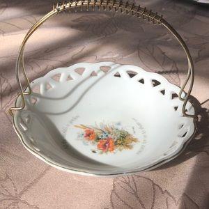 VTG Floral Sentiment Dish made in Japan